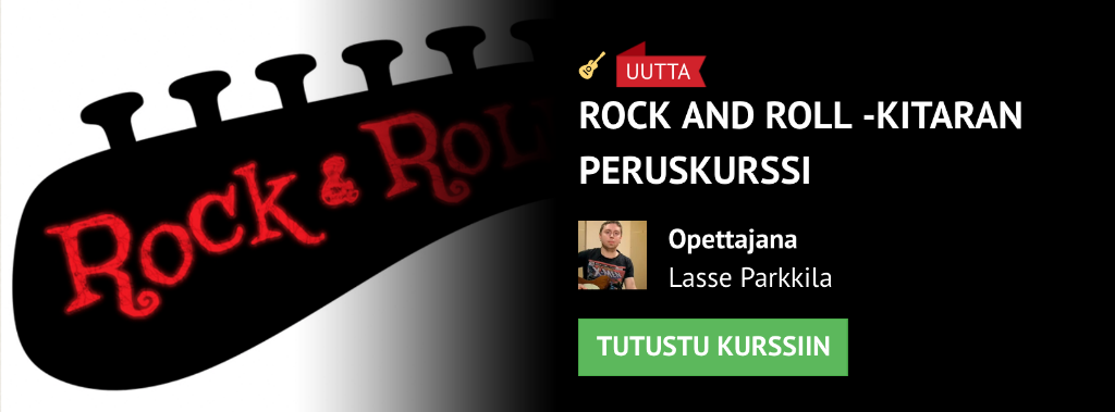 Uutta: Rock and Roll -kitaran peruskurssi!