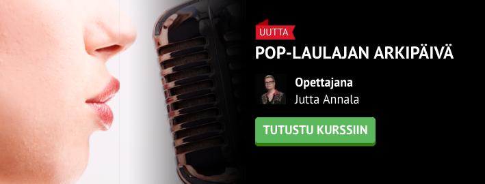Pop-laulajan arkipäivä -kurssi julkaistu