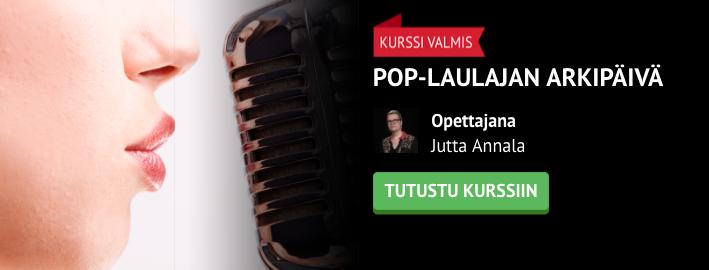 Pop-laulajan arkipäivä -kurssi valmis