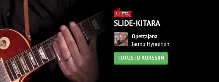 Slide-kitarakurssin uudet harjoitusbiisit